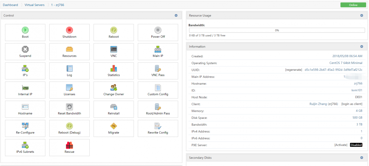 [Oneman IDC]使用SolusVM创建KVM VPS – 初行博客 - 回归初心,记录生活点滴